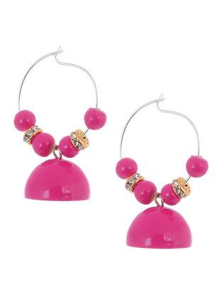 Pink Wood Earrings