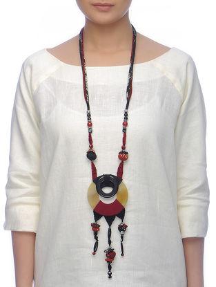 Classic Black-Red Cotton Neckpiece