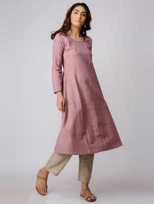 Pink Khadi Cotton Kurta