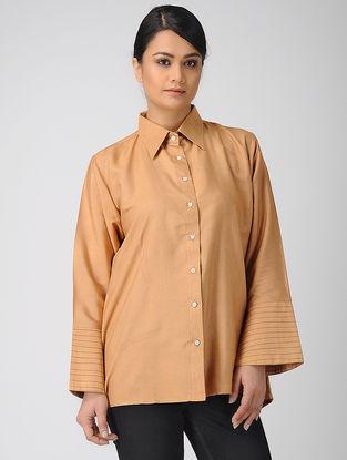Beige Khadi Silk Shirt