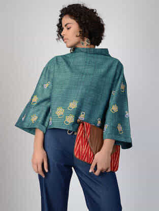 Green Handspun Khadi Cotton Top