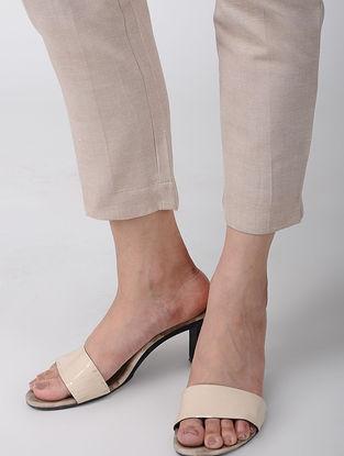 Beige Khadi Cotton Pants