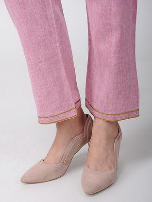 Pink Khadi Cotton Pants