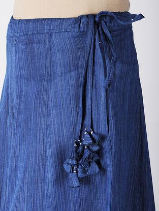 Blue Khadi Cotton Palazzos
