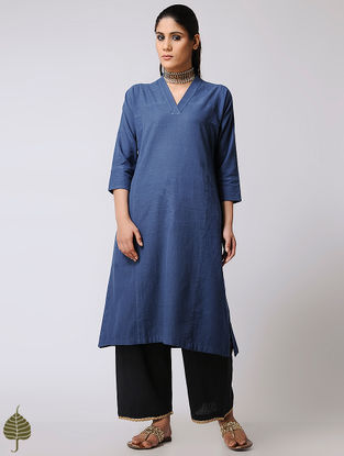 Blue Handloom Cotton Kurta