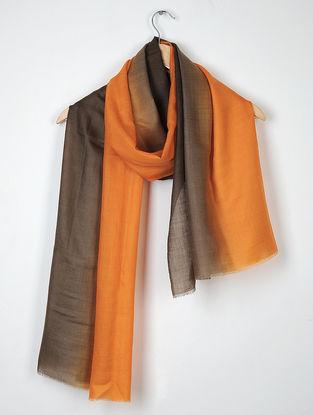 Orange-Brown Pure Cashmere Stole