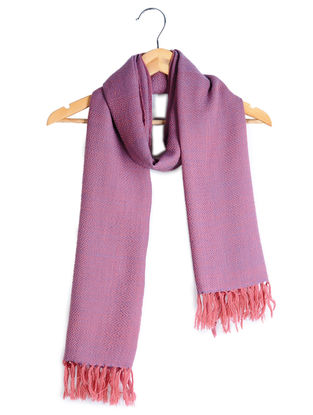 Mauve-Pink Wool Stole