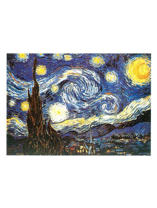 The Starry Night - Vincent Van Gogh Litho Print on Canvas