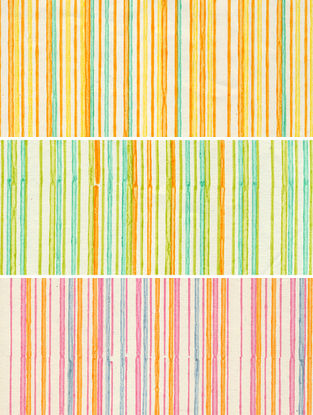 Multicolored Printed Gift Wrapping Paper (Set of 3)