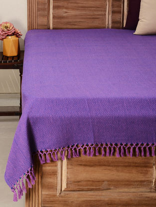 Lavender Cotton Double Square Double Bed Cover 106in x 88in