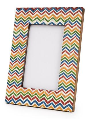 Multi-Color Wood-MDF Photoframe 8.5in x 6.5in x 0.5in