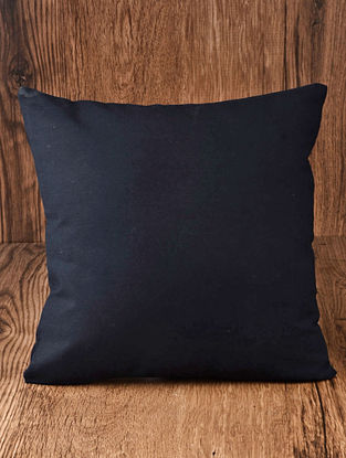 Navy Solid Cotton Cushion Cover 16in x 16in