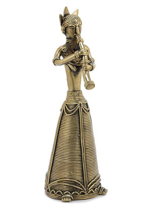 Brass Home Accent with Tribal Woman Design