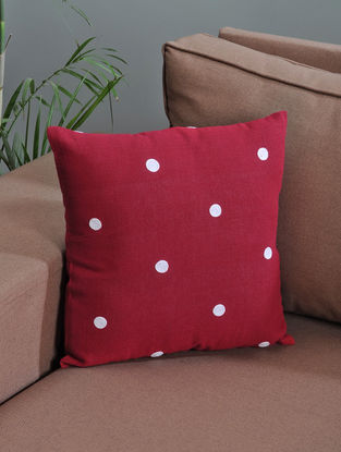 Red- White Cotton Fabric