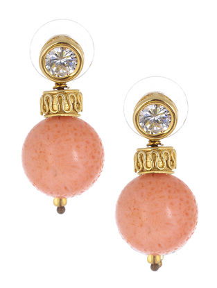 Sponge Coral Gold-plated Silver Earrings