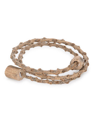 Bark Wood Bracelet with Camphor Beads