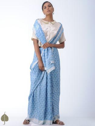 Ivory Mashru Blouse by Jaypore