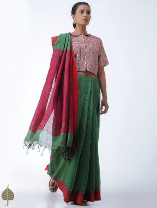Madder Bagh-printed Cotton Blouse by Jaypore