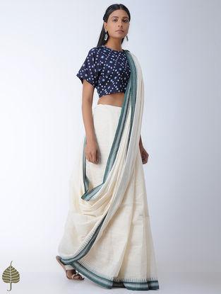 Indigo Bandhni Cotton Blouse by Jaypore