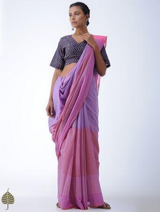 Indigo-Madder Tie-Up Fadat-printed Cotton Blouse by Jaypore