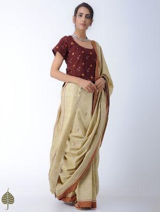Madder Bandhni Cotton Blouse by Jaypore