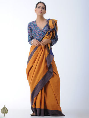 Indigo-Madder Block-printed Cotton Blouse by Jaypore