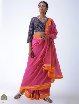 Indigo-Madder Fadat-printed Cotton Blouse by Jaypore