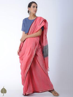 Indigo Handloom Cotton Blouse by Jaypore