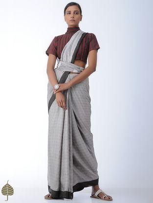 Brown-Madder Natural-dye Block-printed Cotton Top by Jaypore