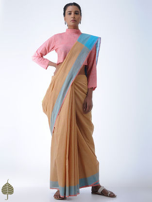 Pink Cotton Khadi Blouse by Jaypore