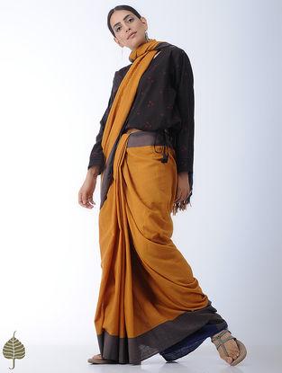 Black Tie-Up Bandhani Cotton Blouse by Jaypore