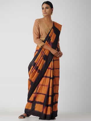 Orange Cotton Blouse by Jaypore
