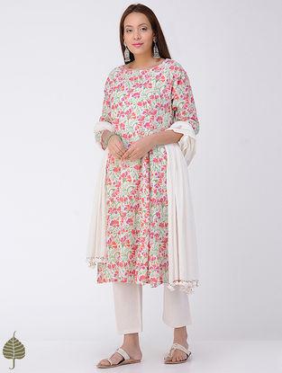 Multi-color Block-printed Cotton Kurta by Jaypore