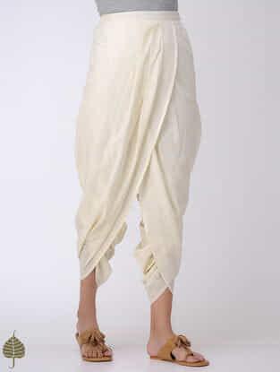 Off-White Elasticated Waist Cotton Dhoti Pants