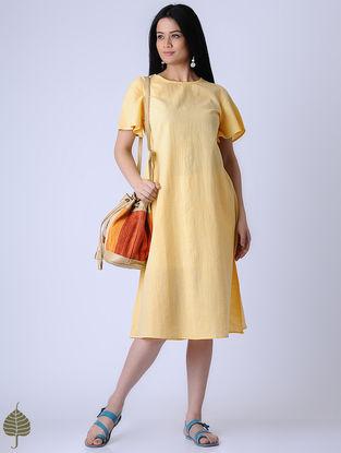 Yellow Handloom Khadi Dress by Jaypore