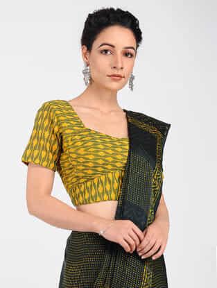Yellow Ikat Cotton Blouse