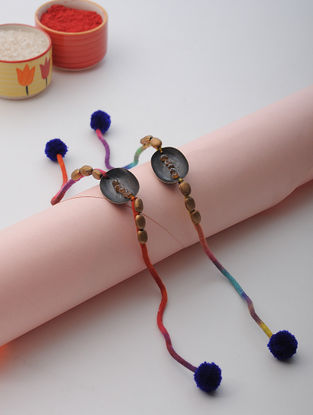 Multicolored Thread Rakhi (Set of 2)