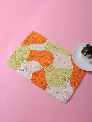 Multicolored Dori Embellished Cotton Place Mat (17in x 11in)