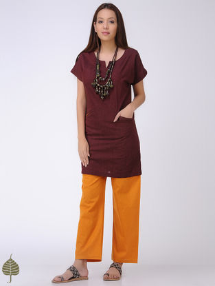 Maroon Mangalgiri Cotton Tunic by Jaypore