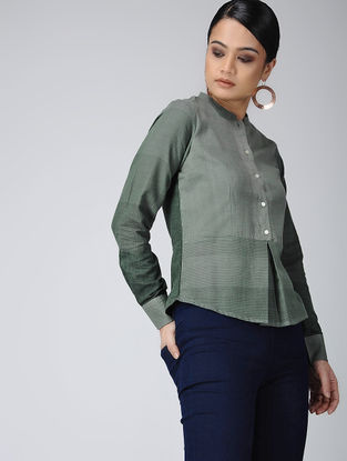 Green Handloom Cotton Top