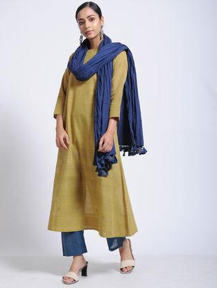 Mustard Natural-dyed Jamdani Cotton Kurta