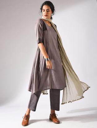 Brown Handloom Cotton Kurta