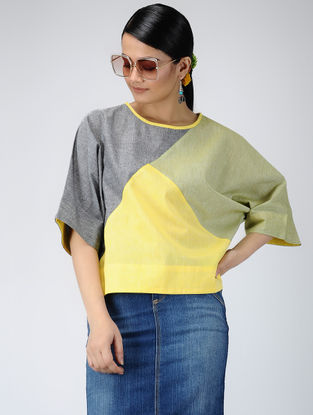 Green-Yellow Handloom Cotton Top