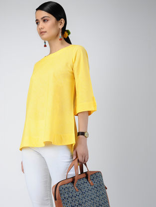 Yellow Handloom Cotton Top