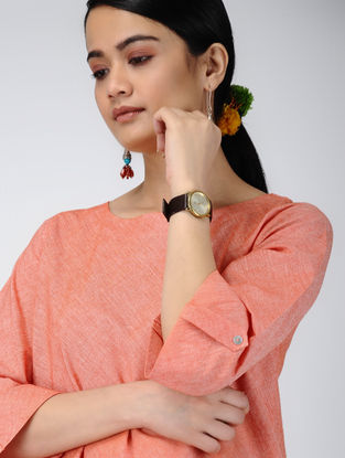 Orange Handloom Cotton Top