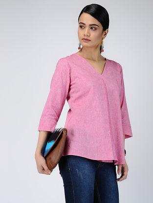 Pink Handloom Cotton Top