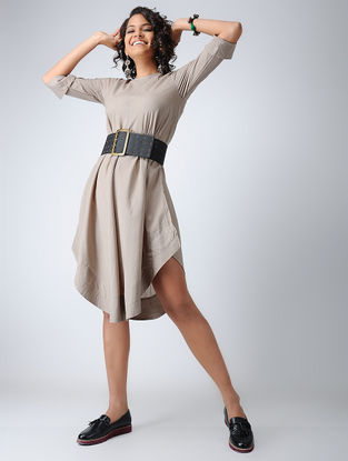 Grey Cotton Mul Dress