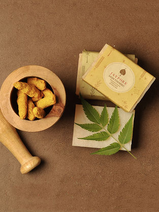 Neem Turmeric Hand-Made Soap by Jaypore - 125 gms