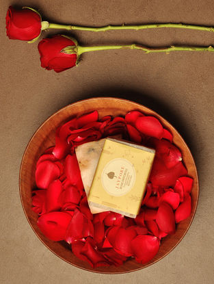 Rose Patchouli Hand-Made Soap by Jaypore - 125 gms
