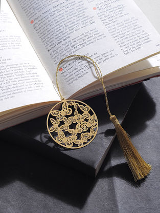 Butterfly Gold Plated Brass Bookmark
